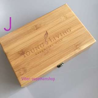 Young Living Essential Oil Wooden Box J