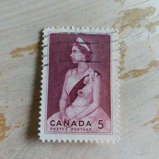 加拿大英女皇已銷郵票1枚 A02