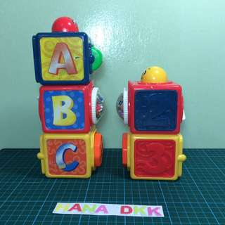 Fisher Price Toy Bright Beginning Stacking Action Block