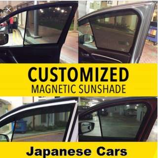 Magnetic sunshade for Honda Civic