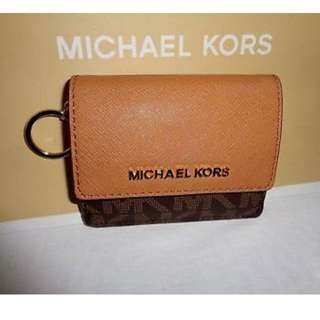 ORIG Michael Kors Jet Set Travel Card Case ID Key Holder Mini Wallet
