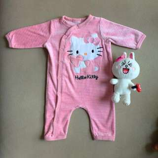 Preloved H&M Hello Kitty Baby Romper/Sleep Suit 3-6m
