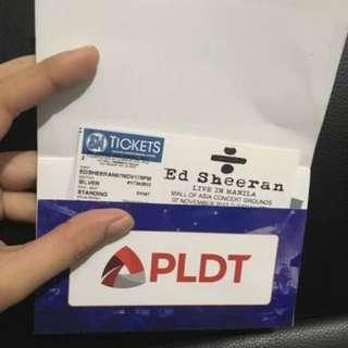Ed Sheeran Ticket Gold Seating