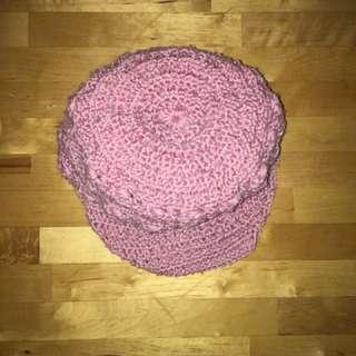 粉紅 冷帽 Pink Sweater Hat