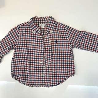 Ralph Lauren 6mo Checkered Shirt