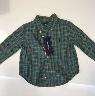 Ralph Lauren Long Sleeve Shirt 12mo
