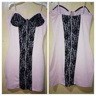 Guess Peach Dress with Black Lace