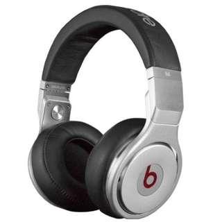 Beats by Dre Beats Pro Black/Silver High Performance Over-Ear Headphones