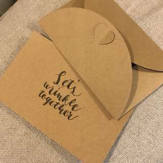 Greeting Card Calligraphy