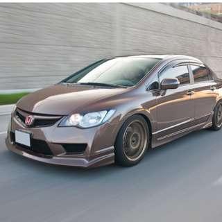 2006 to 2011 Honda Civic FD Window Visor Rain Guard (Set of 4pcs with 3M provided!)