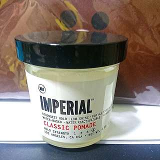 Imperial Classic Pomade (Strongest hold, low shine)