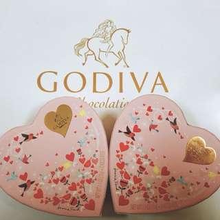 美國Godiva情人節版牛奶朱古力(6片)