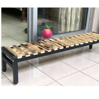 Plant rack wood/metal frame!
