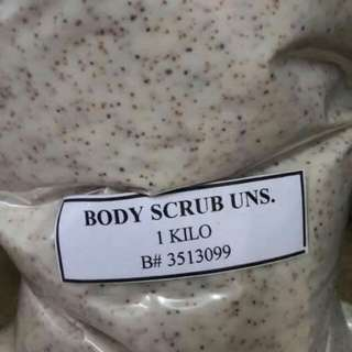 1kg body scrub unscented