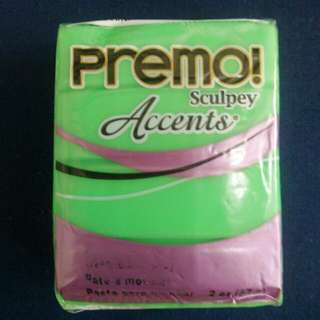 Sculpey PREMO Accents Polymer Clay 5048 Green Translucent