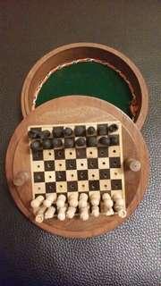 Wooden Chess Travel kit set
