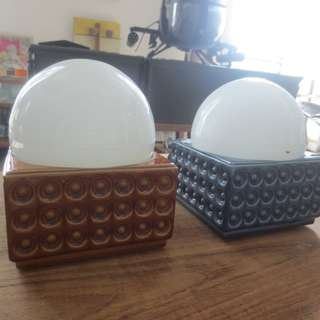 Rare mid century Lindner wall lamps