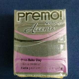Sculpey PREMO Accents Polymer Clay 5120 Graphite Pearl
