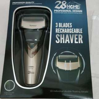 Professional Rechargeable Shaver features.  全防水三刀頭3D智能剃鬚刀,  送多功能厨剪