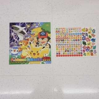 Pokemon Calendar 2010 with Stickers