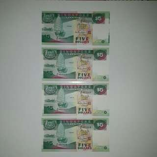 Error in cutting in both short edges of the note (sale 4pcs)