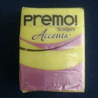 Sculpey PREMO Accents Polymer Clay 5046 Yellow Translucent