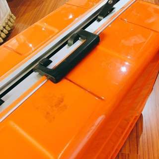 CROWN 皇家牌 PCA輕量亮面29吋拉桿行李箱- 亮橘色