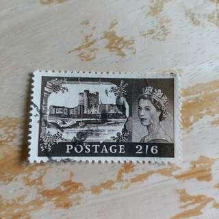 英國已銷郵票1枚 A02