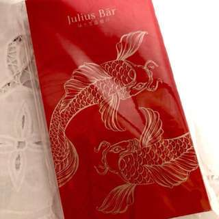 BN 2018 Julius Bar Luxury Silk Satin Red Packet Ang Pow