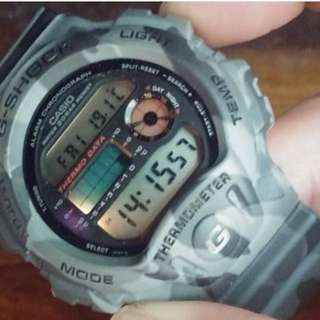 CASIO G SHOCK DW6100 CAMO (Thermometer)