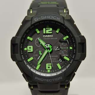 Casio - G-1400-1A - G-Shock - Gravity Defier Series Sky Cockpit - Tough Solar 光動能 (非電波時計型號 NOT Multi Band 6 model / GW-4000 GW4000 非電波版本) G-1400 G1400 (請留意下面Information)