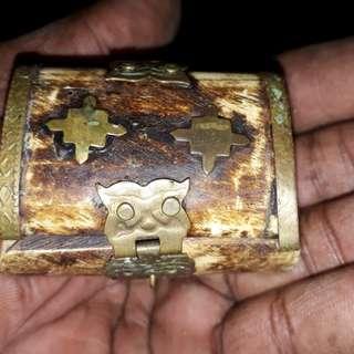 antique ivory jewell box 1900s