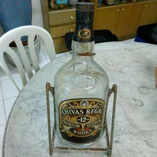 Chivas Regal Premium Scotch Whisky Bottle With Holder Vintage