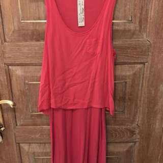Zara hot pink dress (looks like a two piece)