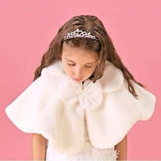 白色珍珠蝴蝶披肩(童裝)