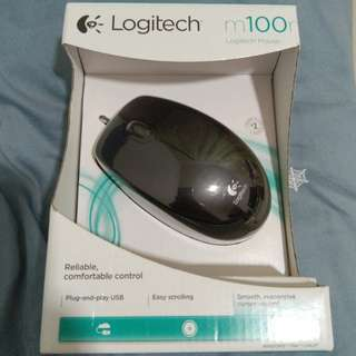 Brand New Logitech M100 Optical Mouse