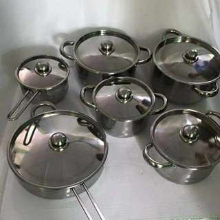 12 Pieces Cookware Stainless Steel Set