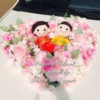 中式結婚公仔/結婚公仔