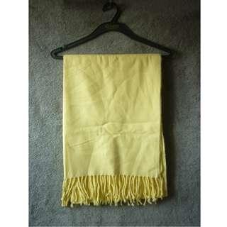 淺黃色 流蘇 大圍巾 披肩 圍巾 頸巾 scarf