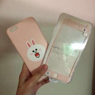 iPhone 6plus 手機殼+ mon 貼