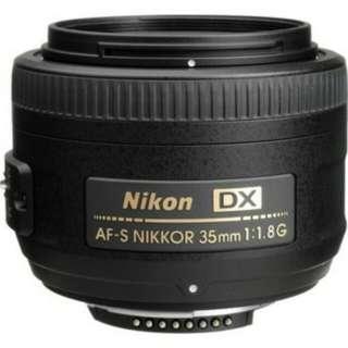 Nikon 35 mm f1.8
