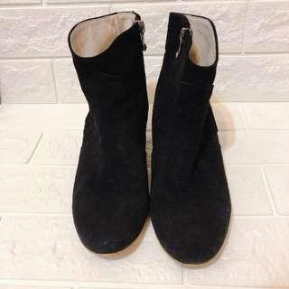 🚚 二手 麂皮靴黑色 size:24.6 8成新