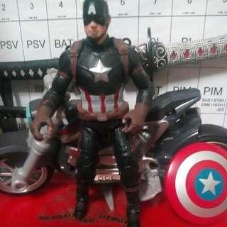 Captain America with bike.
