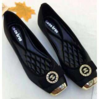 Chanel Doll Shoes Replica Black Size 39