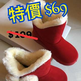 Girls boots Grey / Red small size Big SALE!