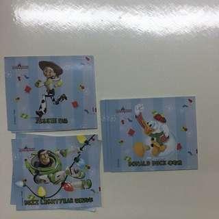 香港迪士尼 貼紙 聖誕版