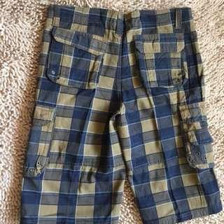 Mens chekered 6 Pocket Shorts