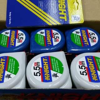 武士牌5·5m拉尺,1把25蚊,1盒12把,1盒250蚊