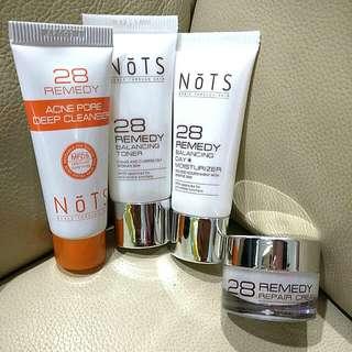 🌟NOTS 28 Remedy Cleanser, Toner, Moisturiser and Repair Cream 🌟