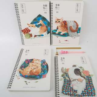 Lazy Cat Spiral Ruled Notebook B5